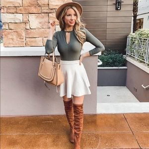 Radiant Lines Knit Mini Skirt
